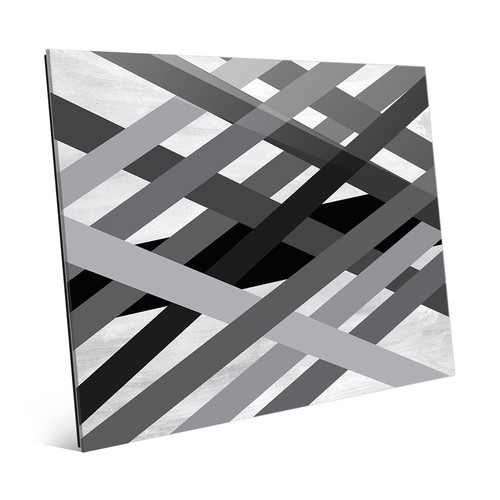 Click Wall Art 'Interwoven Lines' Graphic Art on Glass