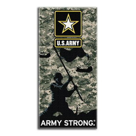 Cameo Towel - U.S. Army Strong UCP Camo 28x58 Fiber Reactive Cotton Beach Towel