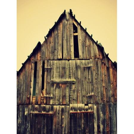 LAMINATED POSTER Old Grain Hut Home Log Cabin Boards Wood Poster Print 24 x (Best Log Cabin Homes)