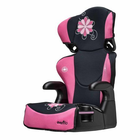 Evenflo Big Kid Sport High Back Booster Car Seat Danica Pink