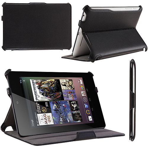 i-Blason Book Shell Stand Case Google New Nexus 7 FHD 2 with Bonus Stylus, Black