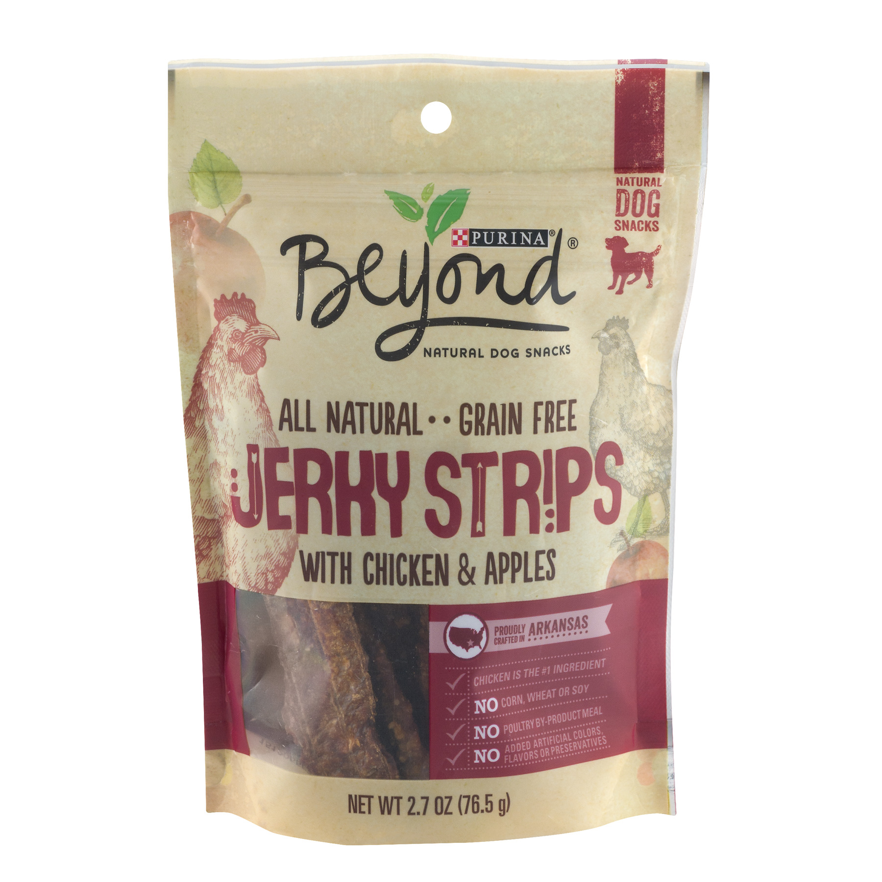 Purina Beyond All Natural Grain Free Jerky Strips With Chicken & Apples Dog Treats, 2.7 Oz.