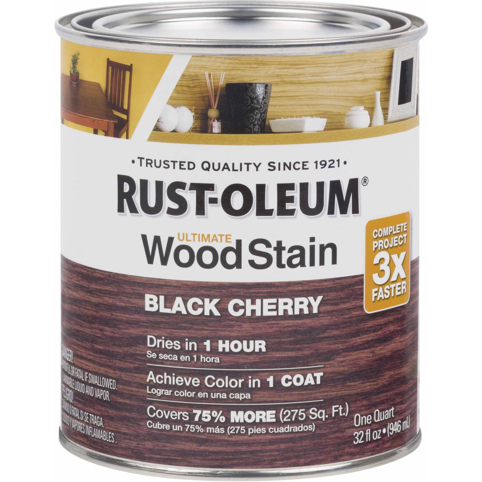 Rust-Oleum Ultimate Wood Stain Quart, Black Cherry