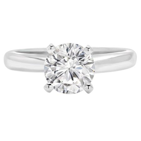 Majesty Diamonds MD190471-8 0.5 CT Round Diamond Solitaire Engagement Ring in 14K White Gold - Size 8 - image 1 of 1