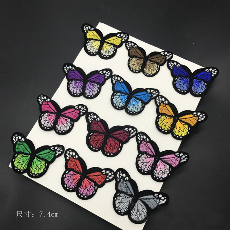 1//10Pcs Animal Embroidery Patches Appliques Sew Iron On Clothes Bag Craft Decor