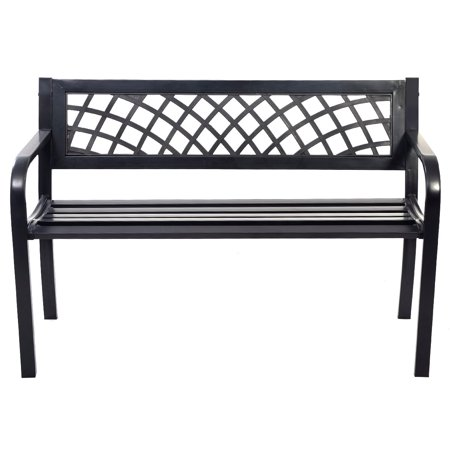 Topbuy Antique Steel Bench Patio Garden Chair Porch Cast for Outdoor ()