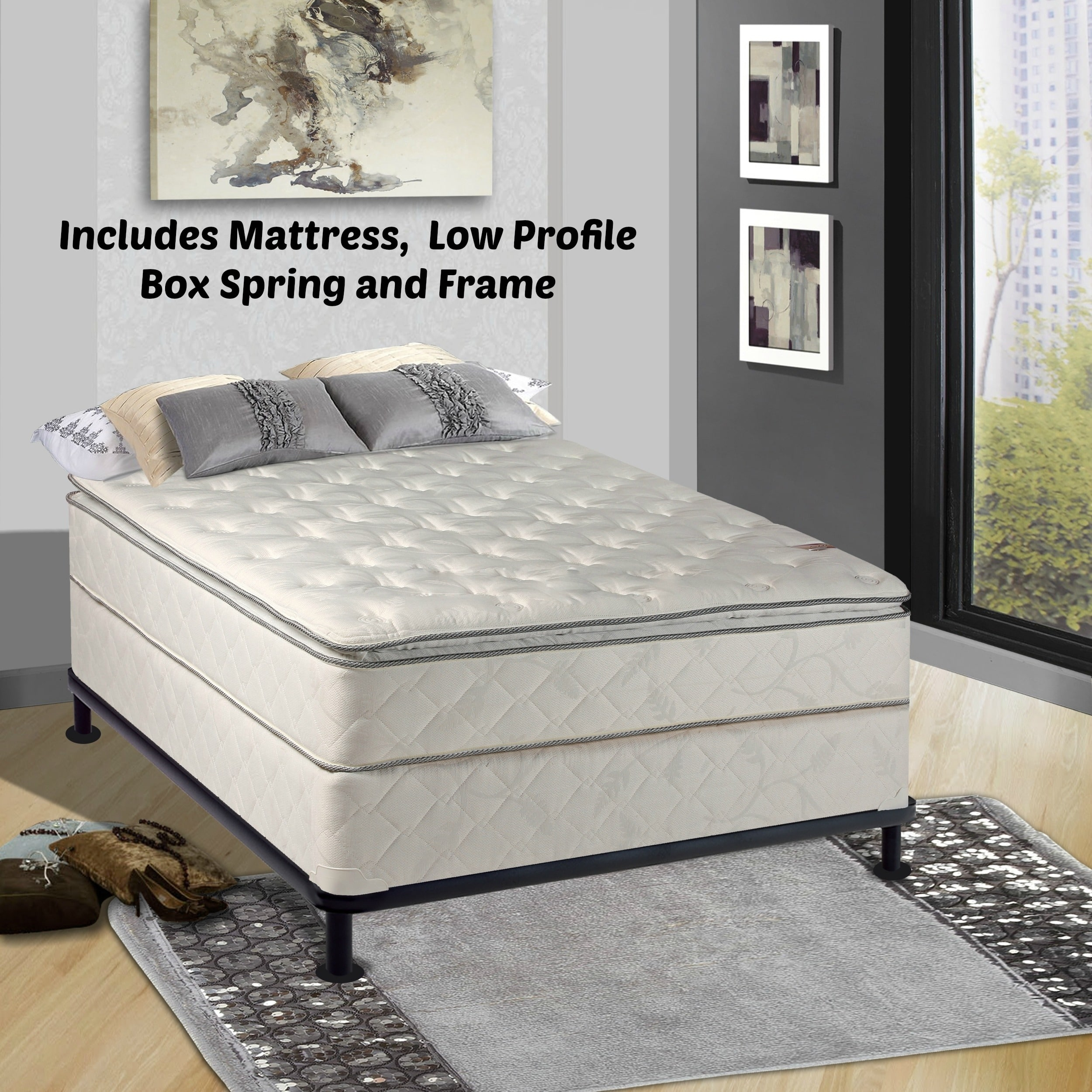 Continental Sleep , Medium Plush Pillowtop Orthopedic type Mattress and 5-inch Box Spring