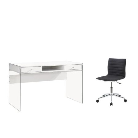 2 Piece Office Set with Computer Desk and - Fabric Computer Desk