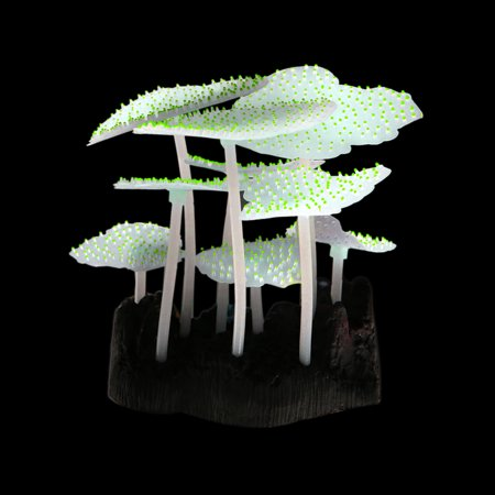 Yellow Sea Anemone Glowing Effect Artificial Coral Plant for Aquarium Decor Tank - image 2 of 4