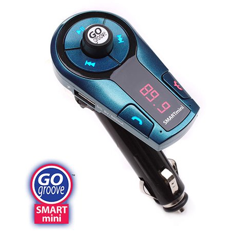 GOgroove FlexSMART X2 Mini Bluetooth FM Transmitter with USB Charging , Music Control and Microphone for Hands-Free Calling - Use with the Apple iPhone 6s, Samsung Galaxy S7, HTC 10 and More ()