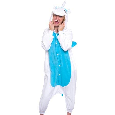 SILVER LILLY Unisex Adult Plush Animal Cosplay Costume Pajamas (Unicorn)