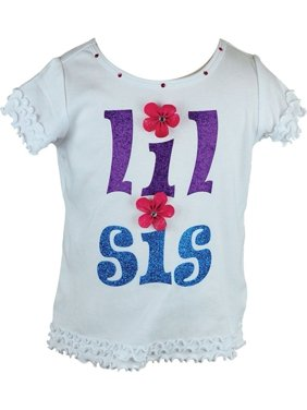 121d5d3b609475 Product Image Reflectionz Little Girls White Floral Applique