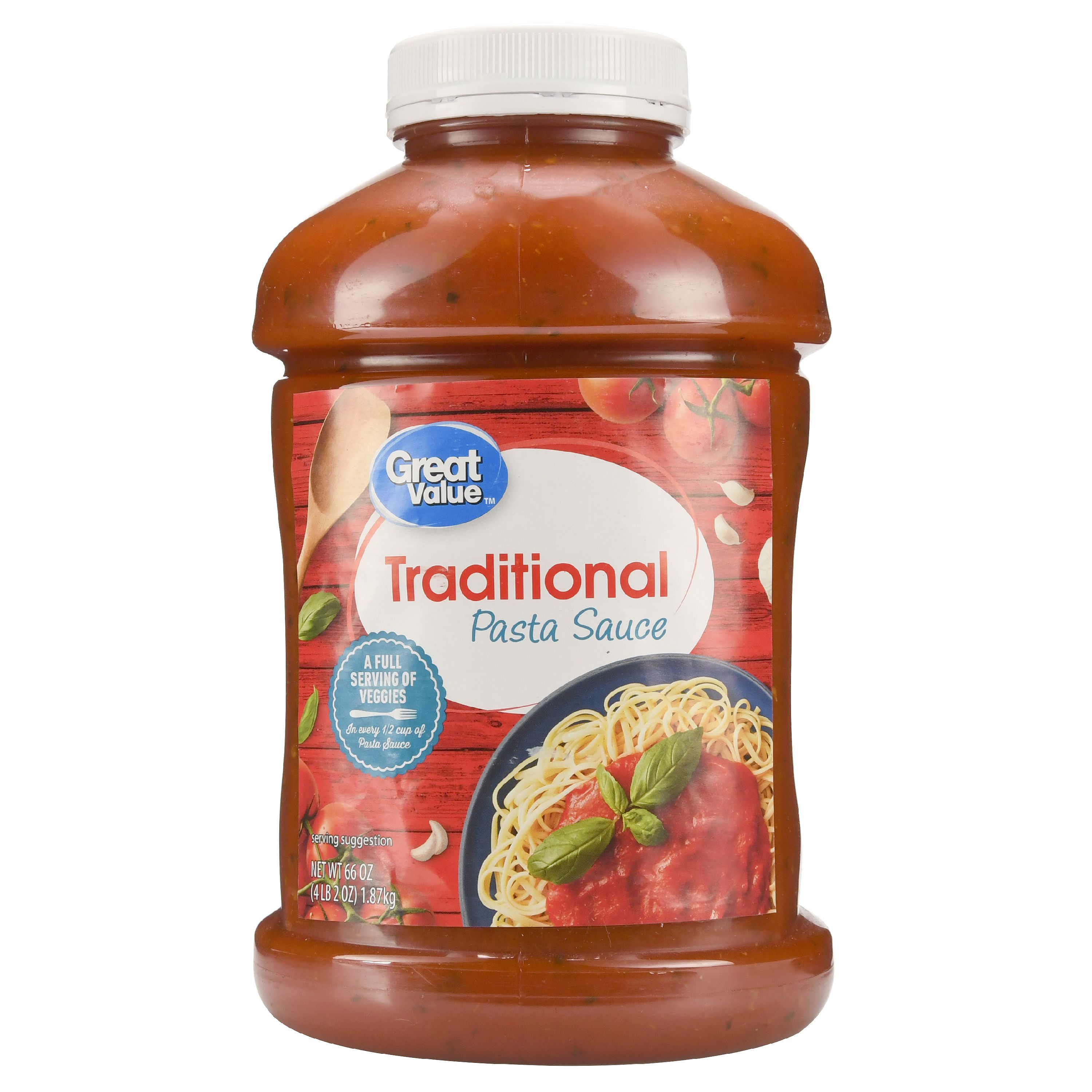 Great Value Traditional Pasta Sauce, 66 oz