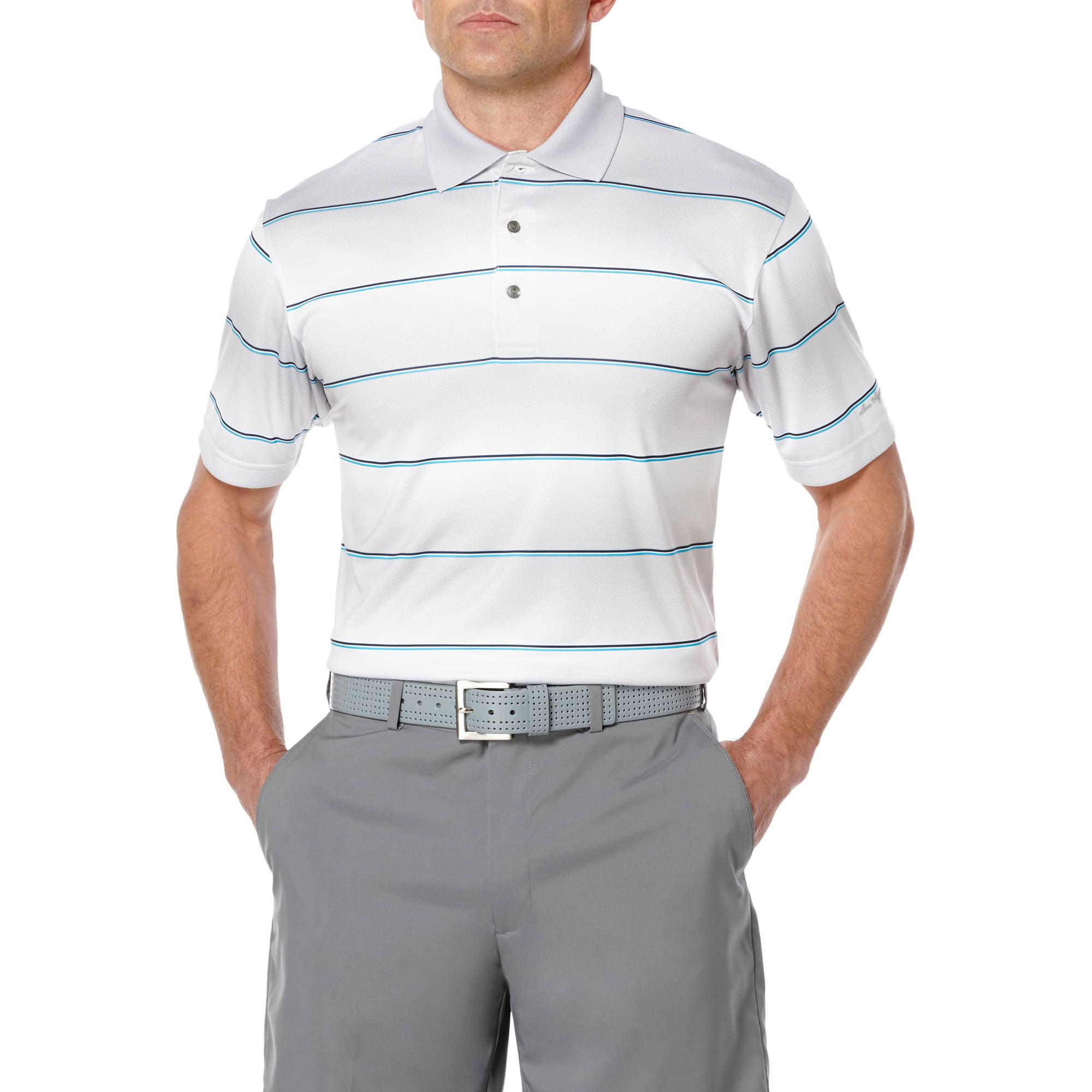 Ben Hogan Performance Big Men's Textured Stripe Polo Shirt