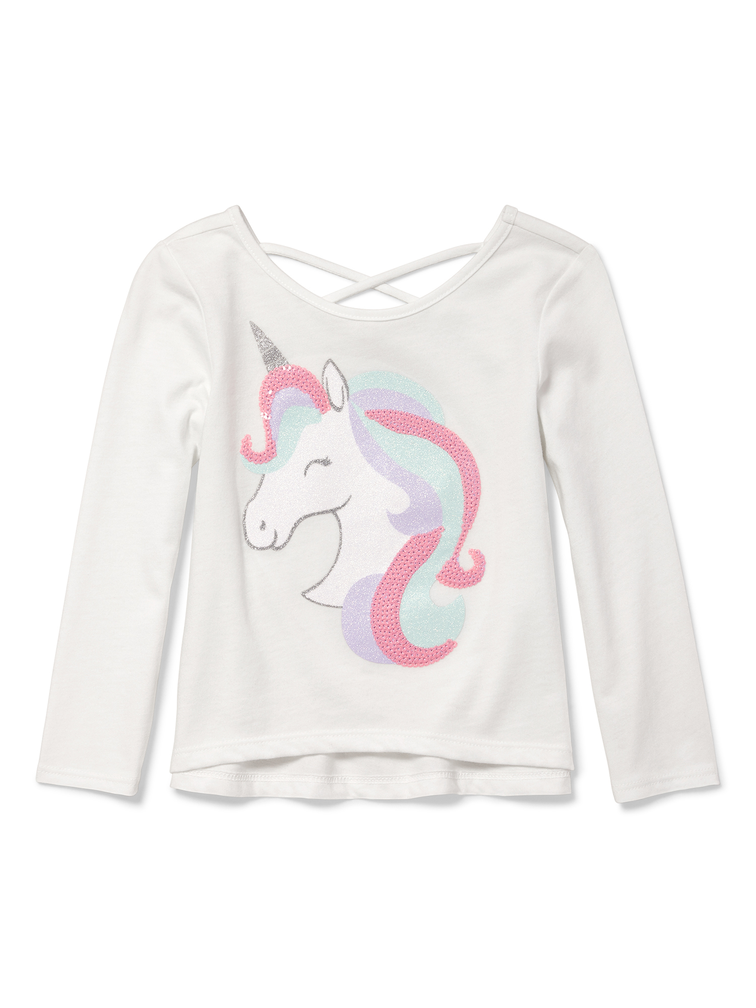 Long Sleeve Crossback Knit Top (Baby Girls & Toddler Girls)
