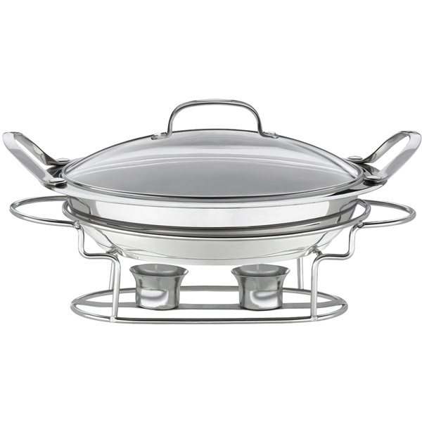 Stainless Steel Round Buffet Server