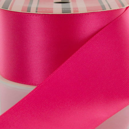 "1.5"" Shocking Pink Double Face Satin Ribbon 5 yard Reel"