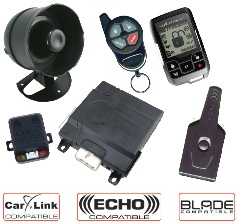EXCALIBUR REMOTE START ALARM WITH RECHARGEABLE LCD 2 WAY REMOTE-AL1851EDPB