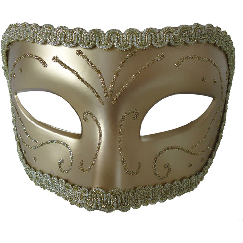 Gold Medieval Opera Mask Adult Accessory
