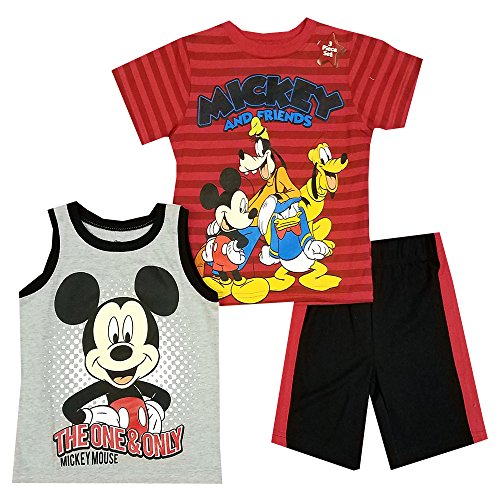 Disney Toddler Boys' Mickey Mouse 3 Piece Short Set - 5T