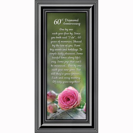 Diamond, 60th Anniversary Picture Frame, Table Decoration for Diamond Anniversary Party, 6x12 7305