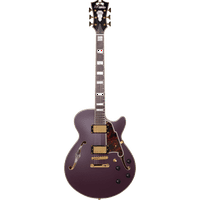 D'Angelico Deluxe SS Semi-Hollow Electric Guitar - Matte Plum
