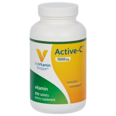 The Vitamin Shoppe ActiveC 1000 MG  Antioxidant With Calcium, Magnesium  Zinc Bound Vitamin C for Immune Health (250 Tablets)