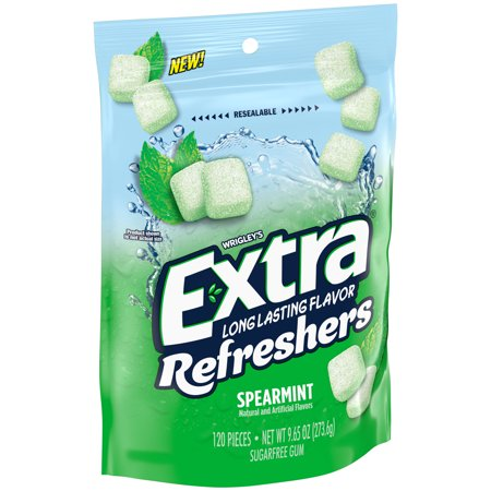 EXTRA Refreshers Spearmint Chewing Gum, 9.65 Ounce, 120 Pieces