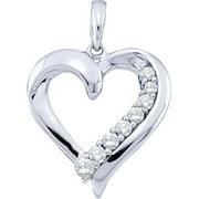 Gold and Diamonds GIP1294-W-B 0.25CT-DIA HEART PENDANT- Size 7