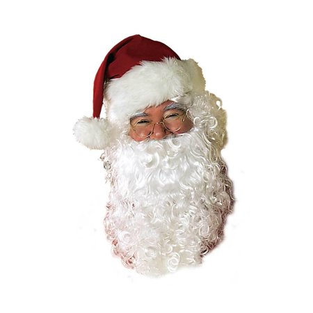Wig and Beard Adult Santa Set - Professional Santa Beard