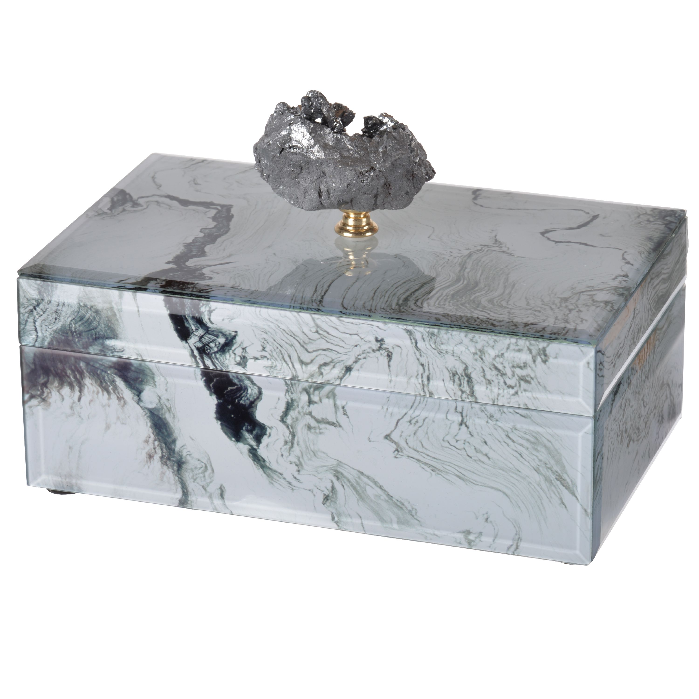 Jewelry Box White Marana Marble Carnelian Semi Precious Stone Home Decor Gift