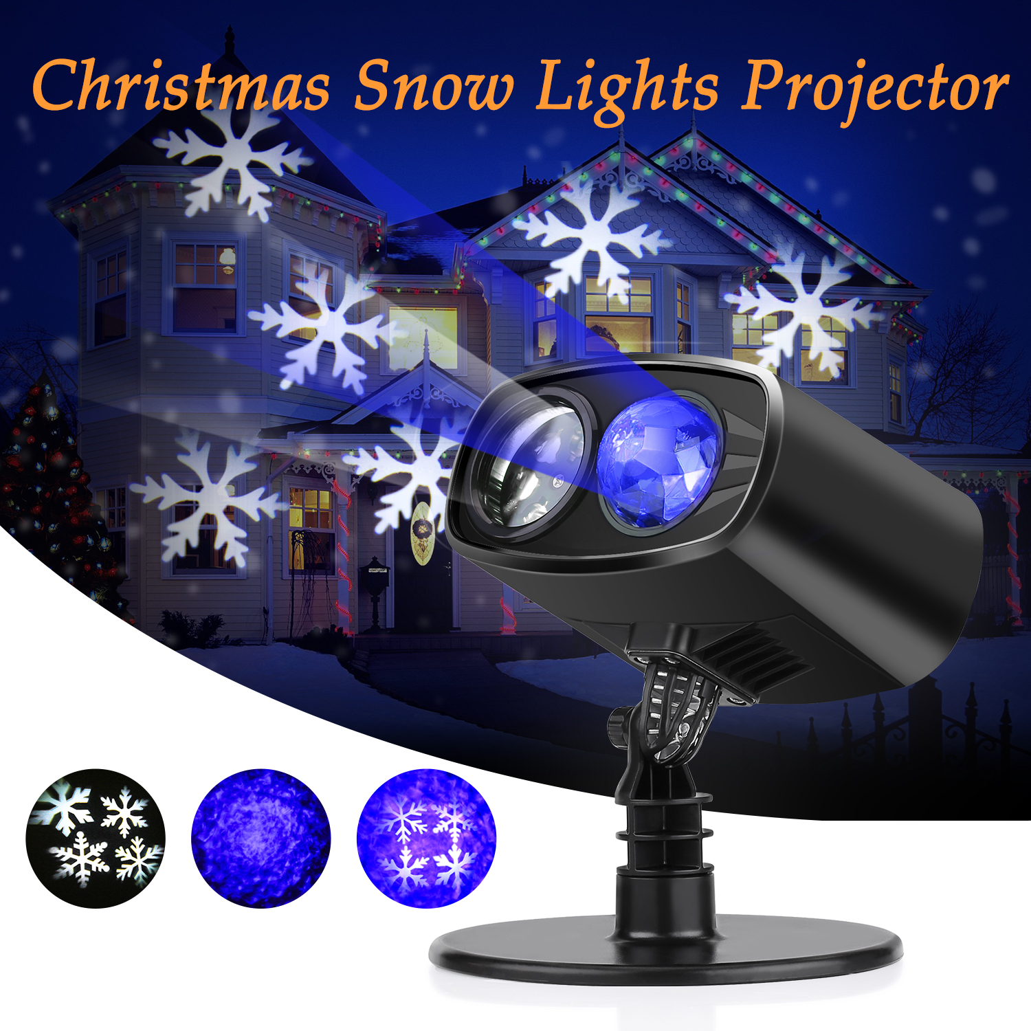 led projector lights, estink waterproof christmas light