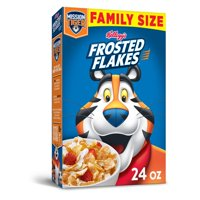 Kellogg's, Frosted Flakes, Breakfast Cereal, Original, Family Size, 24 Oz
