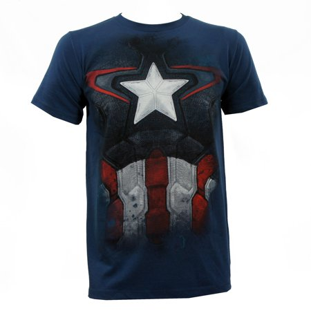 MARVEL AVENGERS Captain America Suit Age Of Ultron Costume T-Shirt