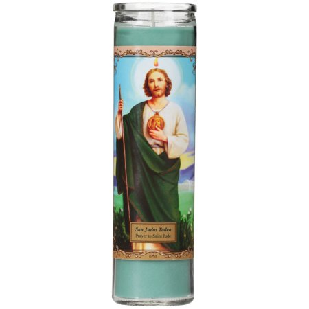 - San Judas Unscented Candle, Green