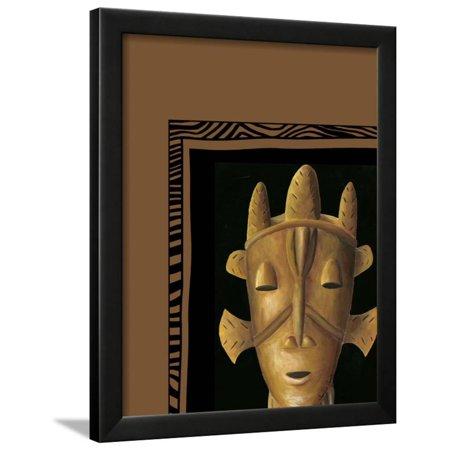 African Mask Ii Framed Print Wall Art By Chariklia Zarris