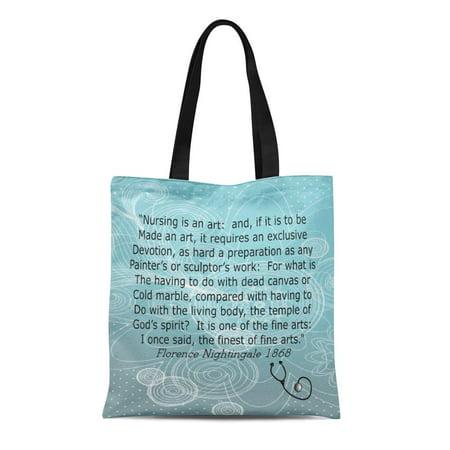 ASHLEIGH Canvas Tote Bag Graduation Nurse Florence Nightingale Retirement Retiring Nursing Student Registered Reusable Handbag Shoulder Grocery Shopping