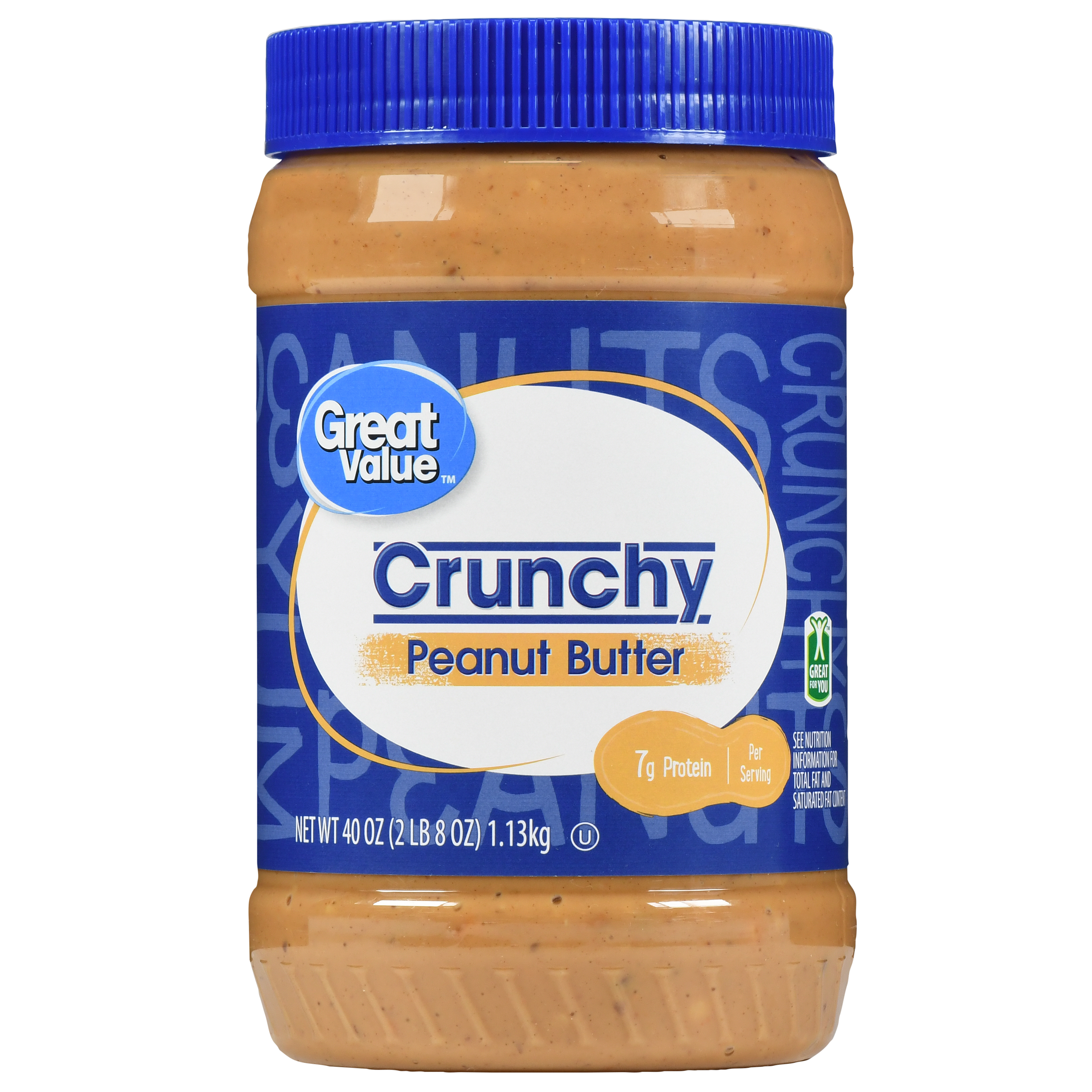 Great Value Crunchy Peanut Butter, 40 oz