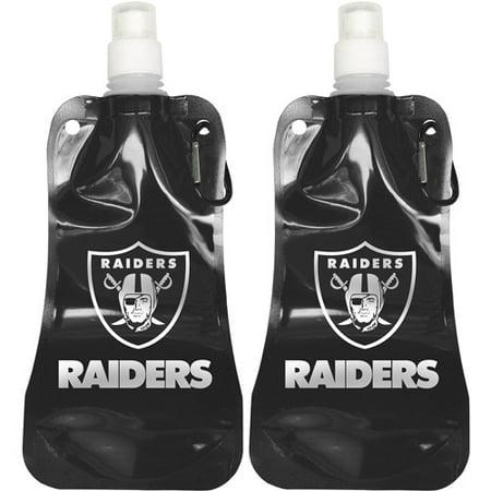 Nfl 16 Oz Oakland Raiders Foldable Water Bottle Set  2Pk
