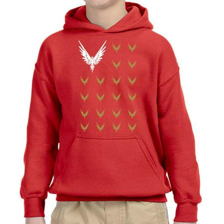 16b59610 New Way - New Way 830 - Youth Hoodie Maverick Bird Savage Logang Flag  Unisex Pullover Sweatshirt Small Red - Walmart.com