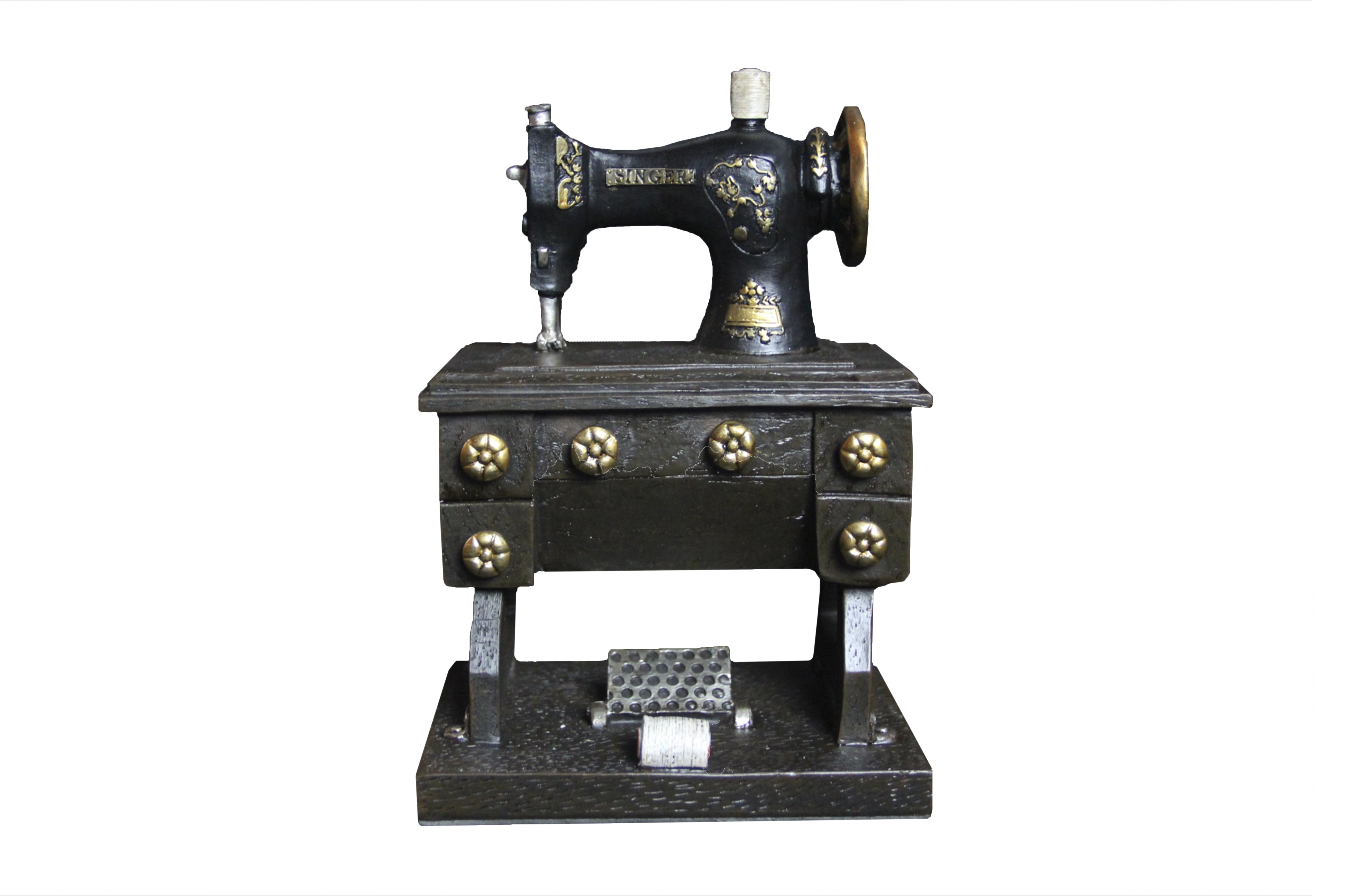 Oh! Trendy Vintage Sewing Machine Adult Piggy Bank | Decorative Sewing Machine Coin Holder Home Decor by UC Global Trade Inc.