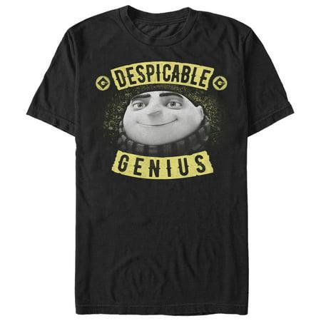Despicable Me Men's Evil Genius Gru Banner T-Shirt (Banners Near Me)