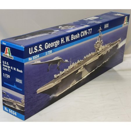 U.S.S. George H.W.Bush CVN-77 1:720 Scale Model Kit -, Made by Italeri; Italeri is a United States based company; parts are sourced from Italian producers By Italeri