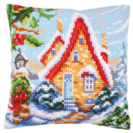 Cottage Bedroom Collection - Collection D'Art Fairy Cottage Pillow Cover Needlepoint Kit