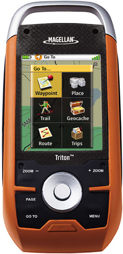 Refurbished Magellan Triton 1500 2.7-inch Handheld Navigation System w  Built-in Maps & Compass Screen by Magellan