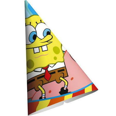 SpongeBob SquarePants 'Buddies' Cone Hats (8ct) - Spongebob Hat