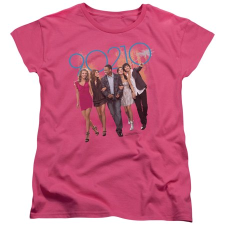 90210/Walk Down The Street   S/S Women's Tee   Hot Pink     Cbs1060