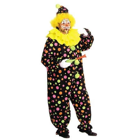 Neon Dotted Clown Full Size