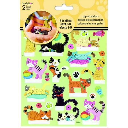 Sticker Pop-Up - Cat 3D New Toys Games st5121 - image 1 de 1