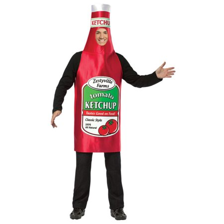 Zestyville Ketchup Men's Adult Halloween Costume, One Size, (40-46)